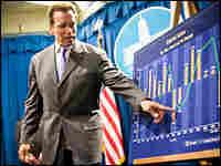 California Gov. Arnold Schwarzenegger outlines his economic proposals Thursday in Sacramento.