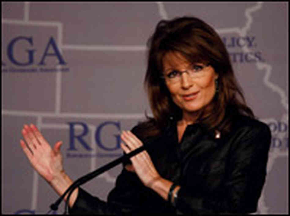 Alaska Gov. Sarah Palin speaks at the Republican Governors Assocation annual conference in Miami.