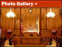 The San Francisco Board of Supervisors Chamber at City Hall.