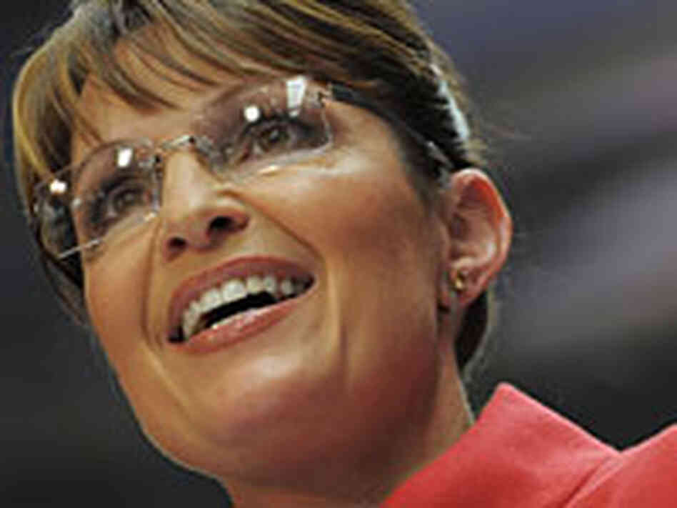 Republican vice presidential nominee Sarah Palin speaks in Columbus, Ohio.