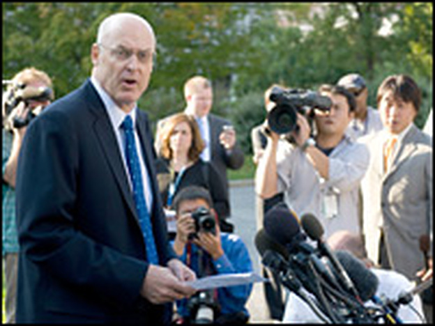 Despite Treasury Secretary Henry Paulson's urging, a bailout for Wall Street has been a tough sell in Washington.