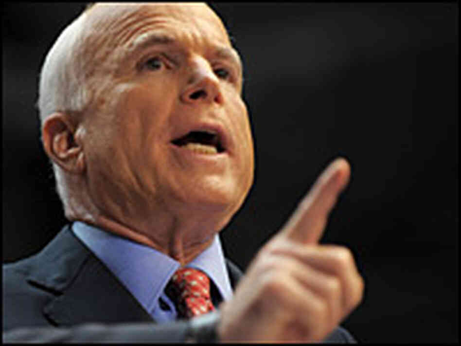 A photo of Sen. John McCain