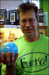 David Leschinsky at Eureka, the puzzle and game store he founded in Brookline, Mass.