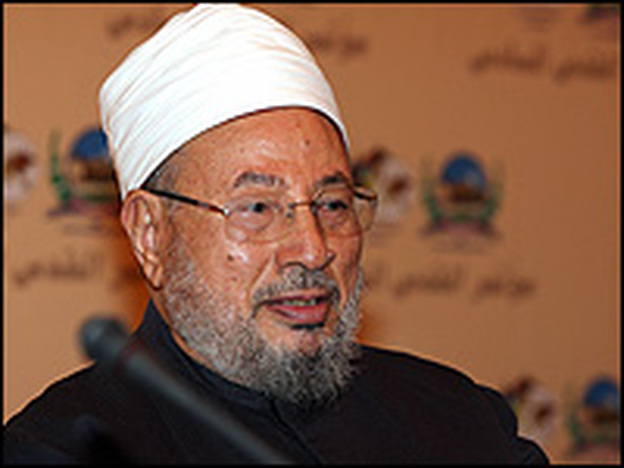 Egyptian-born cleric Sheikh Youssef Qaradawi, whose words have sparked new tensions between Sunni and Shia Muslims, photographed in Qatar on Oct. 12, 2008.