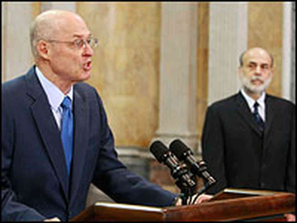 Treasury Secretary Henry Paulson and Federal Reserve Chairman Ben Bernanke