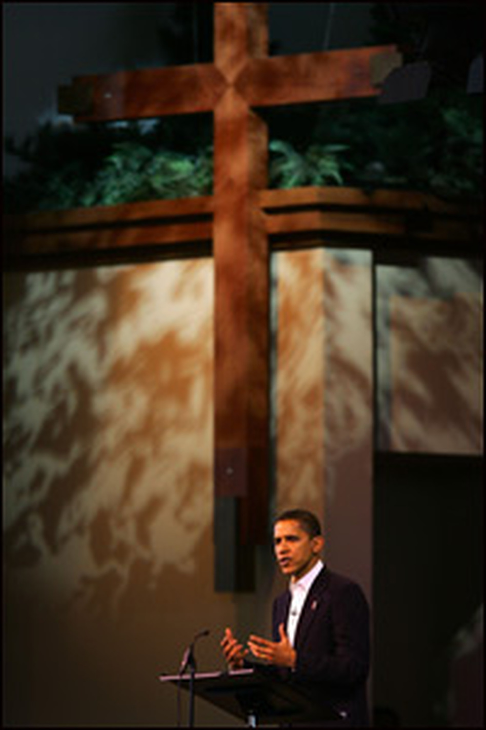 Sen. Barack Obama speaks at the second annual Global Summit on AIDS and The Church at Saddleback Church on Dec. 1, 2006, in California.