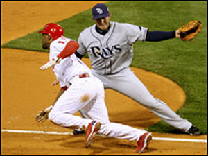 Tampa Bay's Evan Longoria is set to lay a tag on Philadelphia's Jimmy Rollins in Game 3.