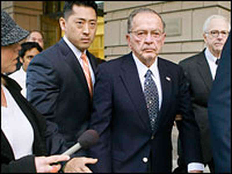 Sen. Ted Stevens leaves the federal courthouse after his conviction.