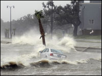 Hurricane Gustav hits the Gulf Coast