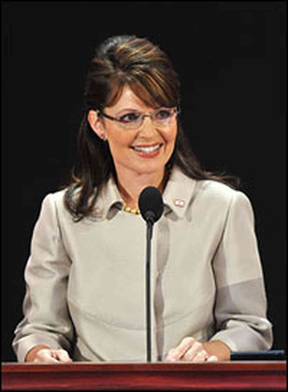 Vice presidential nominee Sarah Palin addresses the Republican National Convention in St. Paul, Minn