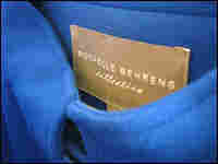 The label attached to one of her suit separates.
