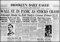 The front page of the Brooklyn Daily Eagle following the stock market crash of 1929.