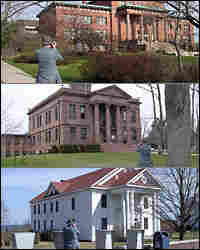Calvin Beale made a point of photographing the courthouses of the counties he visited.