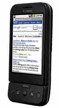 The G1 phone created by Google and T-Mobile