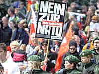 Anti-NATO protest sign