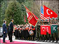 U.S. and Turkish presidents with honor guard
