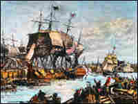 The Tax Day Tea Party movement draws its inspiration from the Boston Tea Party (illustrated here)