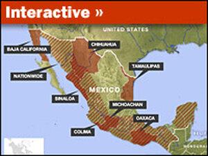 Mexico Drug Cartel Territory