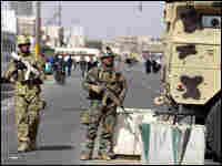 A roadblock in Baghdad