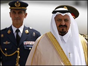 Saudi Crown Prince Sultan bin Abdul Aziz