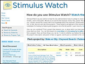 Frame grab from www.stimuluswatch.org