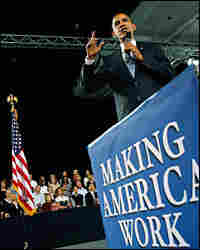 President Obama speaks during a town hall meeting Tuesday in Fort Myers, Fla.