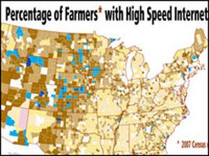 Map of rural broadband access