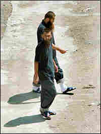 This file photo from May 2006 shows two Chinese Uighur Muslims in Albania.
