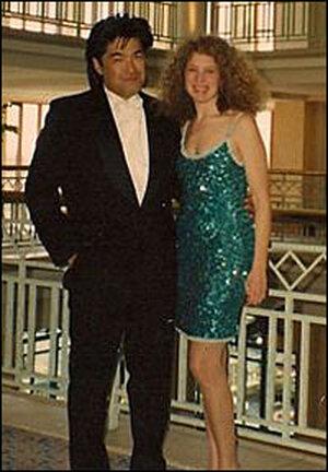Filmmaker Steven Okazaki and commentator Peggy Orenstein, circa 1991