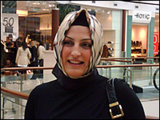 Sema Ozturk chooses Burberry for her Islamic scarf. The debate over headscarves has polarized Turkish society.