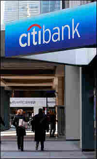 People walk outside Citigroup headquarters in New York City.