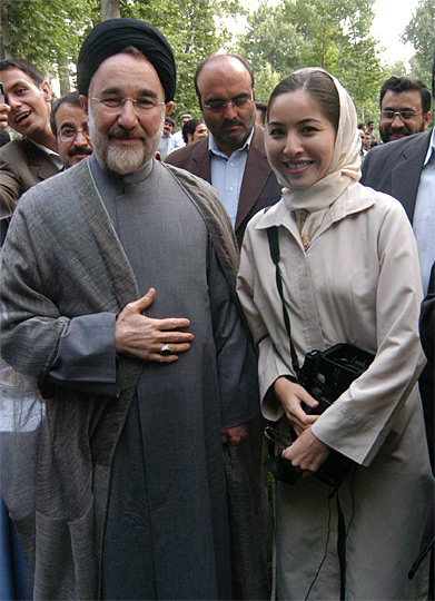 Roxana Saberi with former Iranian President Mohammad Khatami.