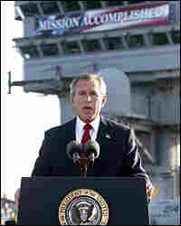 President Bush addresses the nation May 1, 2003, aboard the USS Abraham Lincoln