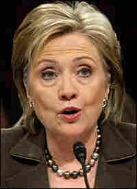 Hillary Clinton at her confirmation hearing.