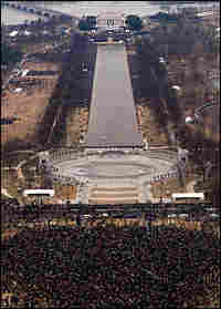 Aerial shot of National Mall