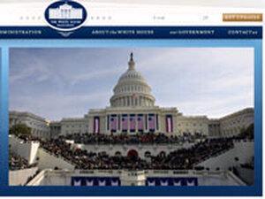 Frame grab from http://www.whitehouse.gov/