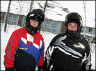 Snowmobilers Rick Drewyour (left) and Carl Harm