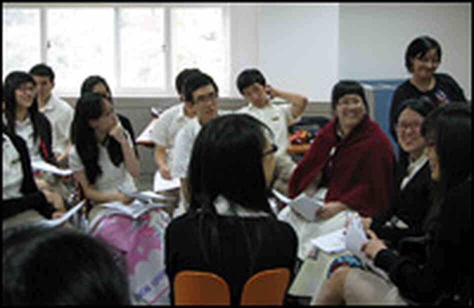 Students in class at the Daewon school