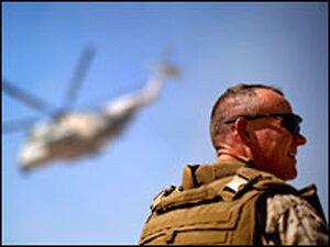 Brig. Gen. Larry Nicholson, commander of the 2nd Marine Expeditionary Brigade