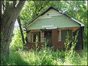 Abandoned house in Flint, Mich.