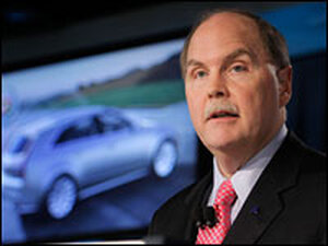 Fritz Henderson, president and CEO of the new General Motors Co., holds a news conference.