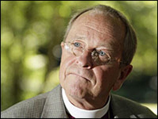 Bishop Gene Robinson was the first openly gay bishop in the Episcopal Church, sparking a rift within the Anglican community. (Getty Images)