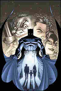 Cover image from a new graphic novel about Batman.