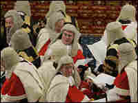 Britain's top judges, known as the Law Lords, shown in 2005