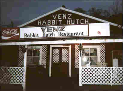 Venz Rabbit Hutch Restaurant. Credit: Courtesy Venz family