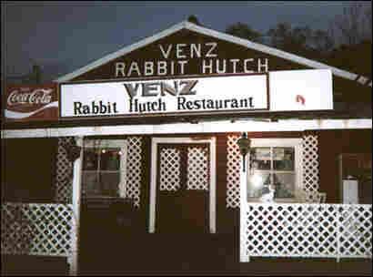 Venz Rabbit Hutch Restaurant. Credit: Courtesy Venz family