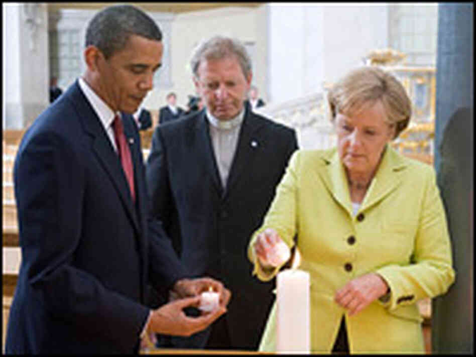 President Obama and German Chancellor Angela Merkel in Germany. Saul Loeb/AFP/Getty