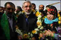 Pro-reform candidate Mir Hossein Mousavi and his wife Zahra Rahnavard