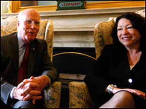 Patrick Leahy and Sonia Sotomayor