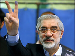 Former Iranian Prime Minister and presidential candidate Mir Hossein Mousavi.